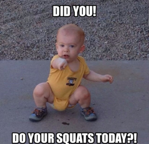 baby asks to squat