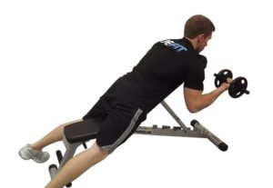 concentration curls on incline